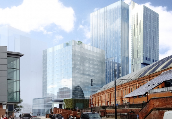 Developer submits plans for a £300m mixed-use tower block scheme in Manchester