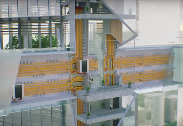 World's first sideways elevator unveiled