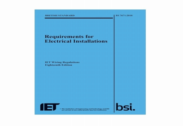 IET & BSI publish 18th Edition IET Wiring Regulations