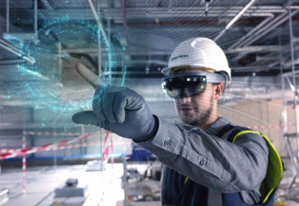 Contractor trials mixed reality headsets on school site