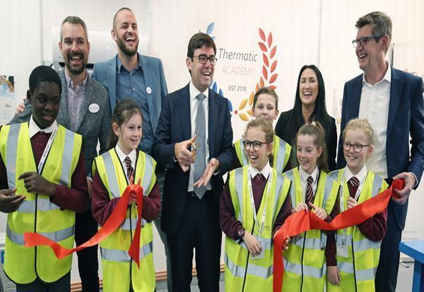 Greater Manchester Major cuts ribbon at HVAC academy launch