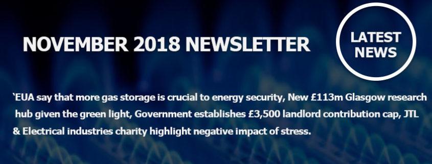 November 2018 Newsletter Main Image