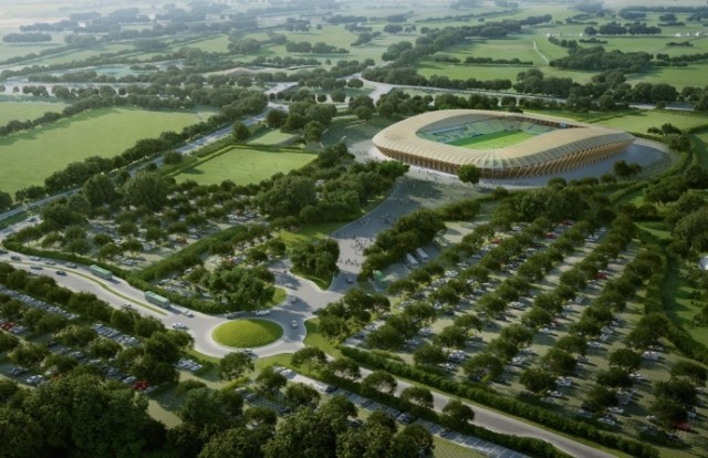 Wooden football stadium plan rejected
