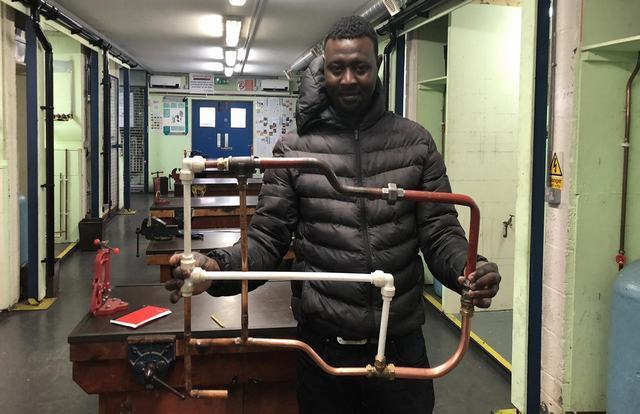 Crowdfunding helps seven homeless people into the plumbing trade